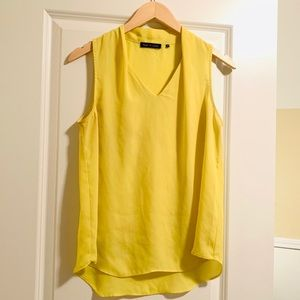 Lovely Violet & Claire Yellow Sleeveless Blouse!